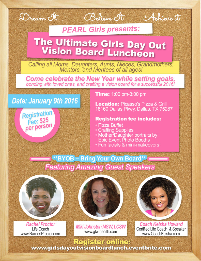 The Ultimate Girls Day Out Vision Board Party Pearl Girls